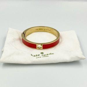 Kate Spade Red Spade Bangle Bracelet